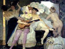 "Nude Woman Behind the Scenes 8.5x11"" Photo Print Leo Putz Dancehall Fine Art USA"