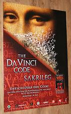 The Da Vinci Code Sakrileg Video Game Promo Poster 84x59.5cm Playstation 2 Xbox