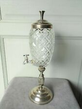 Vintage French Cutted Glass ABSINTHE FOUNTAIN