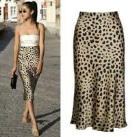 New Women's Stunning Leopard Print Midi Par Naomi Skirt Casual Dress Realisation