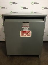 TESTED Square D 300 KVA General Purpose Transformer HV 575 Delta LV 480 Delta