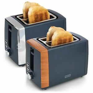 LIVIVO 2 Slice Toaster Extra-Wide Slots Stainless Steel Browning Control Defrost
