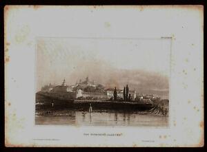 1850. RUSSIAN EMPIRE. KOSTROMA. IPATIEV MONASTERY. Antique steel engraving