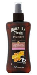 Hawaiian Tropic  Protective Dry Spray Oil  200ml SPF15