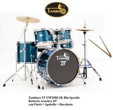 """BATTERIA ACUSTICA 20"""" TAMBURO NUOVA T5 T5P20BLSK Blu Sparkle +PIATTI +SGABELLO"""