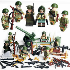 Minifiguren WW2 US Army, Geschütz, Militär, LEGO® kompatibel, NEU