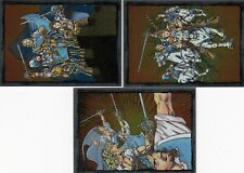 1993 Skybox Three Musketeers Trading Card Foil Card Subset Full Set (3)