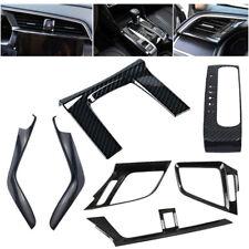 7Pcs Carbon Fiber Dashboard  Look Gear Side Cover Trim for 16-2017 Honda Civic