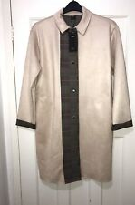 ZARA COMBINED FAUX SUEDE LONG TRENCH COAT SIZE M BNWT RRP£70