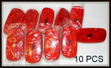 LOT OF 10 Red Clearance LIGHTS SIDE MARKERS TRAILER CAMPER TRUCK  RV