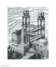 WATERFALL ART PRINT BY MC ESCHER mathematical infinity symmetry poster