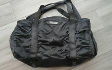 Zella Solid Charcoal Gray Nylon Duffle/Gym Bag   Size 10x17x7  Adjustable Strap