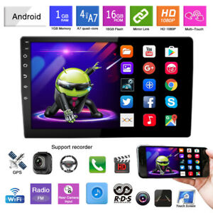 """1DIN 10.1"""" Car Stereo Radio WiFi GPS MP5 Player Android 9.1 Touch Screen 1G+16G"""