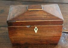 More details for small regency rosewood sarcophagus tea caddy