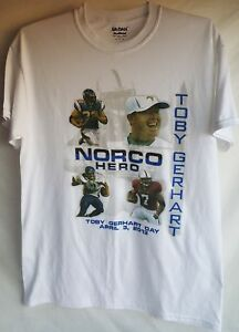 Minnesota Vikings Toby Gerhart White Shirt Top Adult M Used Stanford Norco