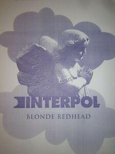 Interpol 2005 Seattle Concert Original Show Poster w/ Blonde Redhead