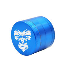 KING KONG Herb Grinder 4Layers 50MM Zinc Alloy With Sharp Diamond Teeth Blue
