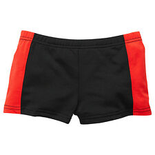 TARGET BOY'S TRUNKS BATHERS BLACK WITH RED SIDE PANELS SIZE 1 NEW