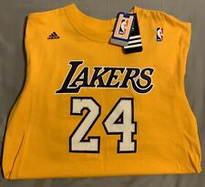 Kobe Bryant # 24 Jersey T-Shirt Lakers Size M made by Adidas