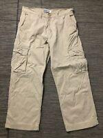 Levis Adult Mens 34 x 30 (ACTUAL 34 x 28) Cargo Pants Beige
