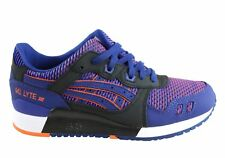 Asics Gel Lyte III Mens Blue Leather & Textile Lace Up Sneakers Shoes