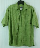 Patagonia men's S green plaid shirt Organic Cotton SS Button Shirt