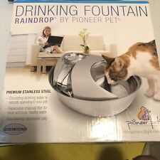 Pioneer RAINDROP Stainless Steel Pet Drinking Fountain Dog Cat