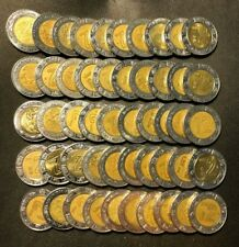 Old Mexico Coin Lot - 2 PESOS - 50 Excellent Bi-Metal Coins - Lot #A1