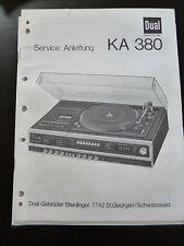 Original Service Manual Service Anleitung DUAL KA 380