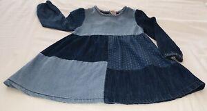 Tu Girls Denim Patchwork Dress, Age 18-24 Months