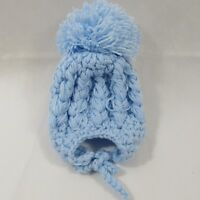 Babies Baby Girls Boys Handmade Winter Hat Tie Up Bobble Aran Knit Knitted NB