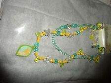 Disney Store Tinker Bell Necklace and Bracelet Set NWT