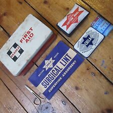 First Aid Kit Tin Vintage Bradex Mini Kit w Crela Contents Some Sealed