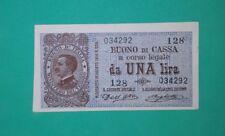 1 LIRA BUONO DI CASSA/ VITTORIO EMANUELE III /DECR/ 2/09/1914  QFDS /PRIMA DATA