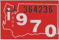 1970 WASHINGTON Vinyl Sticker Decal -CAR/Passenger License Plate Reg.TAB TAG-New