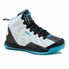 AND1 Kids Show Out Basketball Shoe, White/Black/Teal, Size 6.0 LZGS