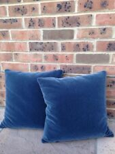 2 Ralph Lauren Mohair Velvet Cushion Cover Dark Slate Grey Blue Sea Designer 18""