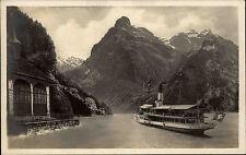 Ship Schiffe ~1930 Schweiz Binnenschiffe Dampfer See passiert die Tellskapelle