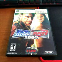 WWE SmackDown vs. Raw 2009 Featuring ECW (Xbox 360 Video Game, 2008) Complete