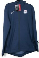 Nike Team USA Basketball Dry Hyper Elite Showtime Hoodie Navy Blue White Men's L