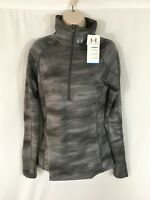 Under Armour Women's ColdGear Phantom Gray Cozy Print Fitted 1/2 Zip Small