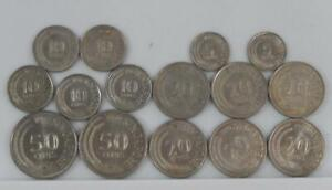 Singapore 1967-1980 5 10 20 50 Cents 15 Coin Lot All Different C1965