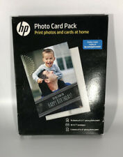 HP Inkjet Printer Glossy Photo Card Picture Paper Pack 887758496787 New
