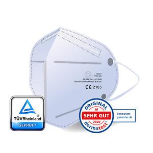 FFP2 Atemschutz Maske Mundschutz CE TÜV Geprüft Fünf-Filter-Technologie 50x