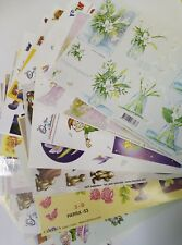 20 Sheets Assorted Decoupage Traditional 3d Designs discontinued card making