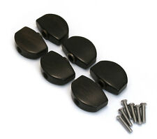 (6) Ebony Buttons for Schaller M6 Full Size Guitar Tuners TK-0999-0E0