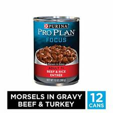 Purina Pro Plan Senior Gravy Wet Dog Food, Focus Morsels In Gravy Beef & Rice En