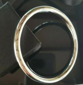 Classic 65 mm Solid Sterling Silver Filled 6 mm Golf Slave Bangle 43 Grams Heavy