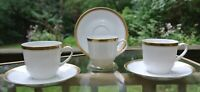 Set of Three Porcelain Cups and Saucers  Arzberg Germany