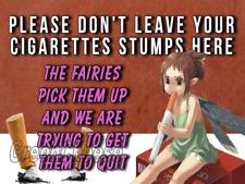 Fairy Funny bar sign fairy garden retro mancave man gift smoking free p&p